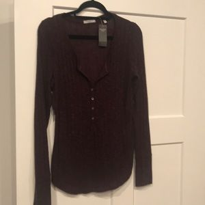 NWT Abercrombie Henley Top